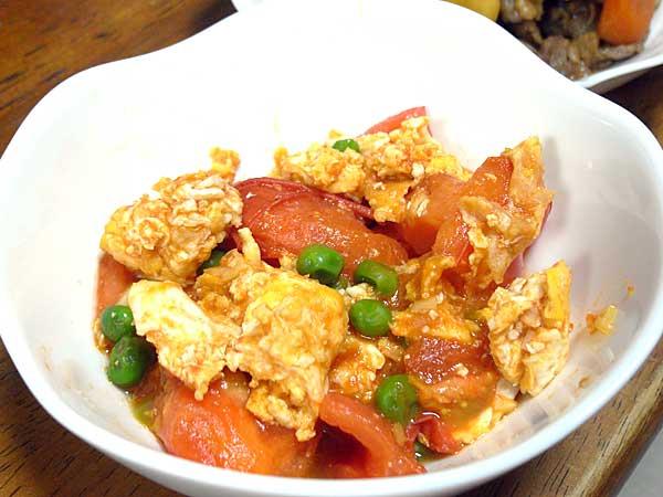 トマトとタマゴの炒めもの
